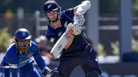 Kane Williamson during his 97 against Sri Lanka in Dunedin
