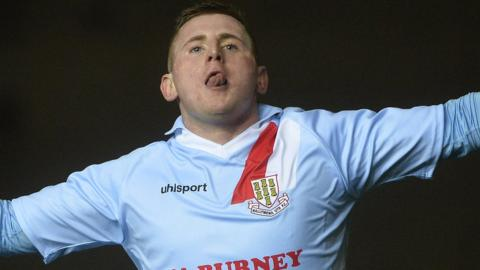 Ballymena substitute David Cushley's two goals in the second half tied the cup final at 2-2