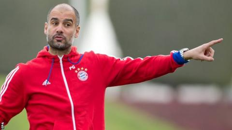 Bayern Munich coach Pep Guardiola