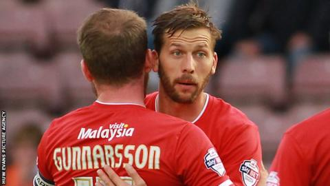 Guido Burgstaller played five games for Cardiff, scoring one goal