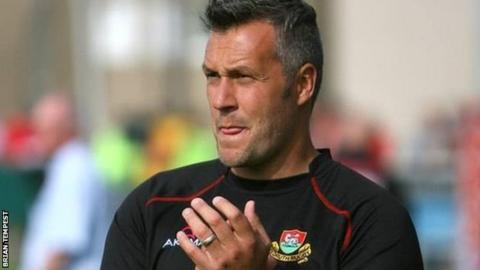 Redruth head coach Steve Larkins