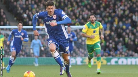 Striker Alex Revell has scored one goal in four appearances since signing for Cardiff City in January 2015
