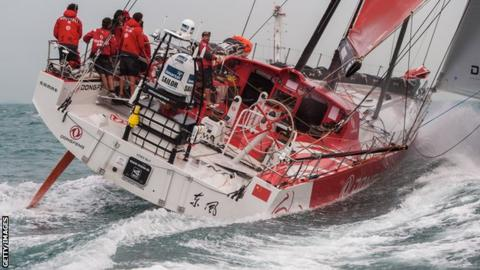 Dongfeng Race Team at sea