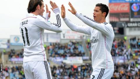 Gareth Bale and Ronaldo