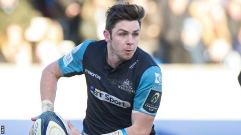 Ryan Wilson in action for Glasgow
