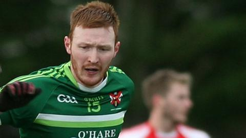 Ciaran O'Hanlon in action for Queen's