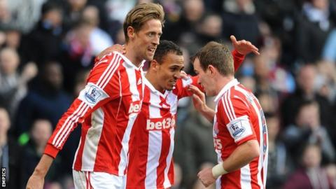 Peter Crouch and Glenn Whelan