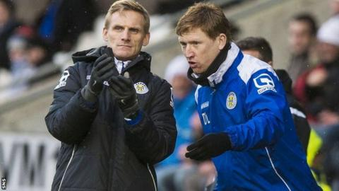 St Mirren's management team - Gary Teale and David Longwell
