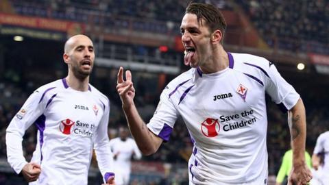 Fiorentina defender Gonzalo Rodriguez