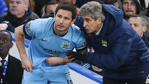 Frank Lampard and Manuel Pellegrini