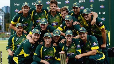 Australia's winning team