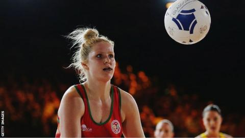 Wales' Chelsea Lewis will also be Celtic Dragons' main goal-shooter this season