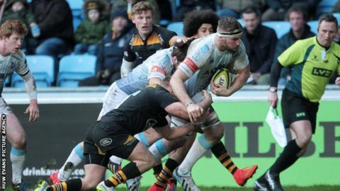 Lock Miles Normandale scored two tries in Cardiff Blues' win at Wasps