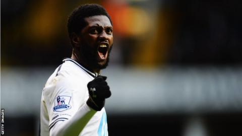 Tottenham Hotspur forward Emmanuel Adebayor