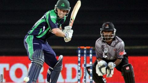 Ed Joyce in action for Ireland against Bangladesh at last year's World T20