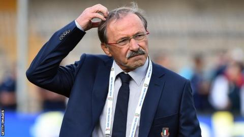Italy coach Jacques Brunel