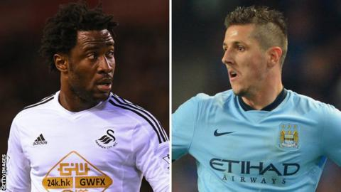 Wilfried Bony and Stevan Jovetic