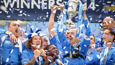 St Johnstone are the Scottish Cup holders