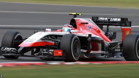 Marussia 2014 F1 car driven by Max Chilton