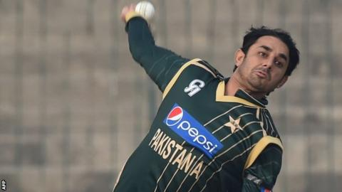 Pakistan spinner Saaed Ajmal