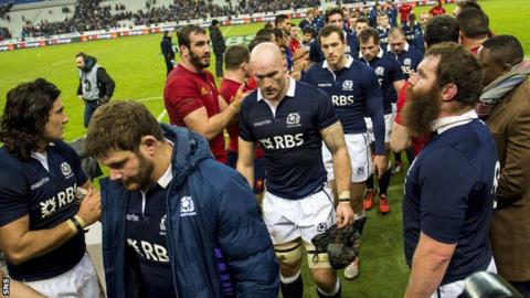 Scotland and France players