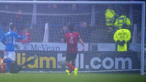 Gavin Reilly scores for Queen of the South against St Johnstone
