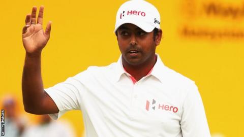 Anirban Lahiri at the Malaysian Open