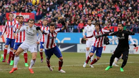 Gareth Bale in action for Real Madrid vs Atletico