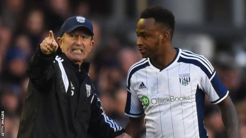 Tony Pulis (left) and Saido Berahino (right)