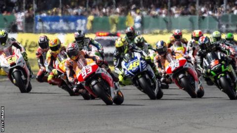 Start of the 2014 British MotoGP