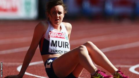 Laura Muir shows her disappointment in Zurich