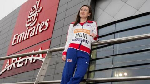 Laura Muir at the Emirates Arena