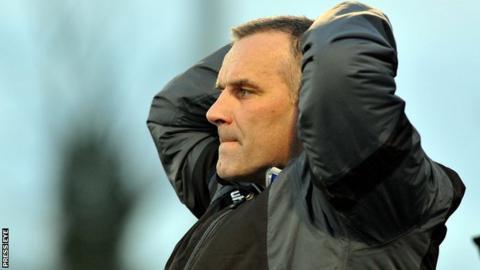 Ballymena United manager Glenn Ferguson