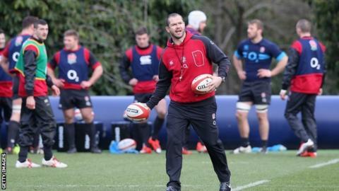 England coach Andy Farrell