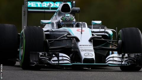 Nico Rosberg testing the 2015 Mercedes