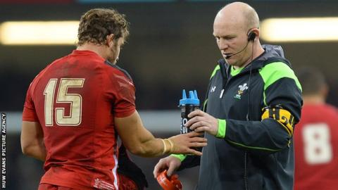 Neil Jenkins (right) with Leigh Halfpenny