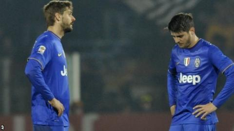 Fernando Llorente (left) and Alvaro Morata