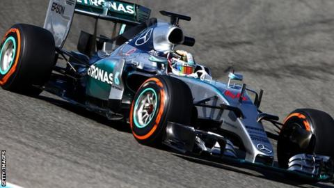 The 2015 Mercedes F1 car