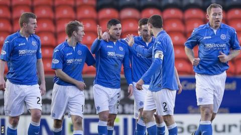 Michael O'Halloran scored two for St Johnstone