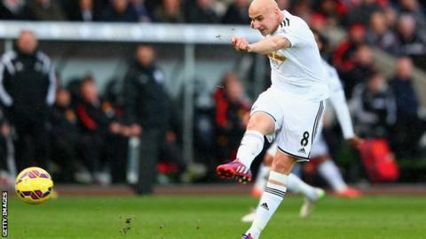 Swansea midfielder Jonjo Shelvey