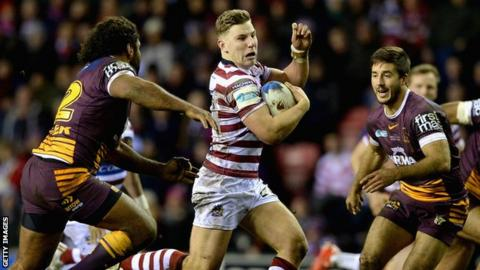 Wigan's George Williams runs with the ball