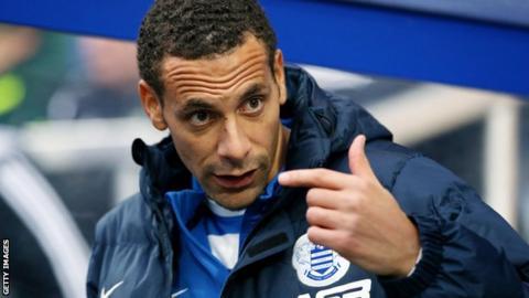 QPR defender Rio Ferdinand