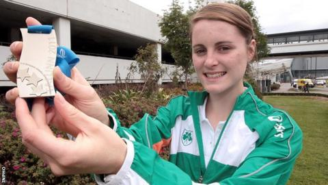 Ciara Mageean shows off her European Junior silver won in 2009