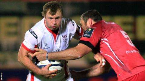 Roger Wilson in action against the Scarlets earlier this season