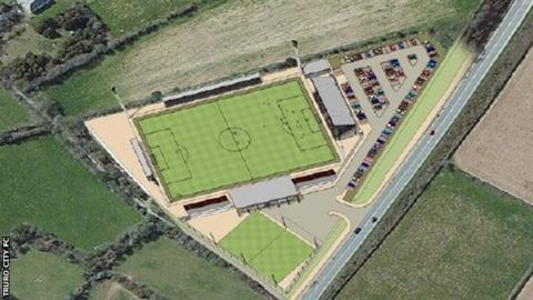 Truro City's planned new stadium
