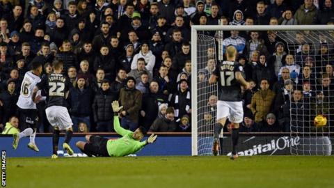 Jesse Lingard scores Derby's second goal