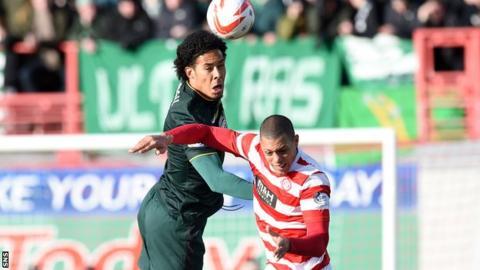 Virgil van Dijk in action for Celtic