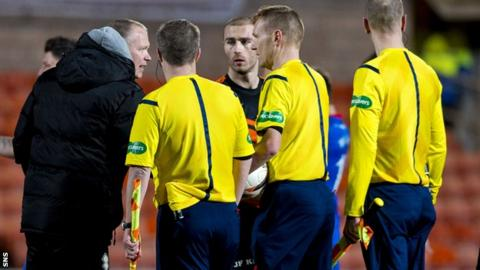 Inverness manager John Hughes felt referee Calum Murray had a bad night at Tannadice
