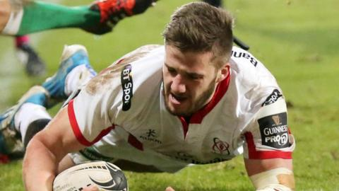Ulster centre Stuart McCloskey