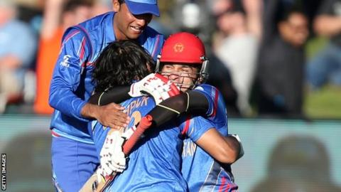 Hamid Hassan and Shapoor Zadran
